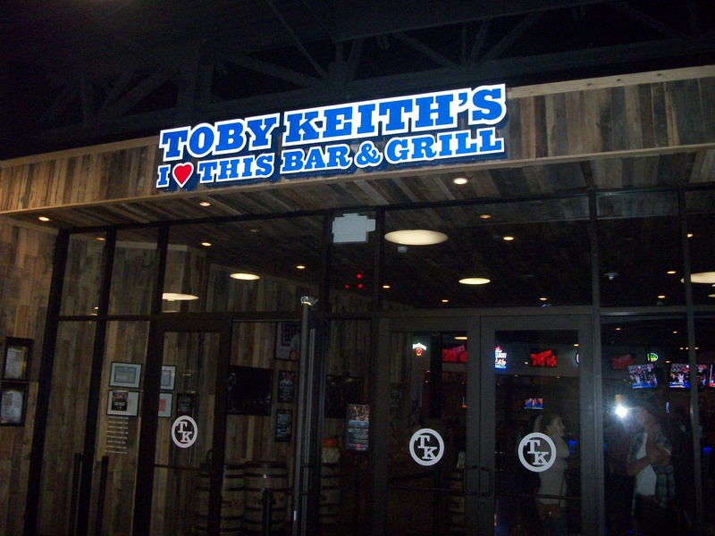 Toby Keith bar and grill